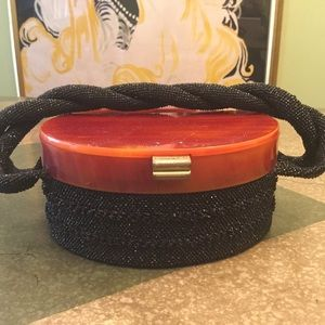 Handbags - Vintage Bakelite & Microbeaded Evening Bag
